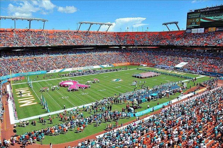 Ingressos para assistir jogos do Miami Dolphins e NFL