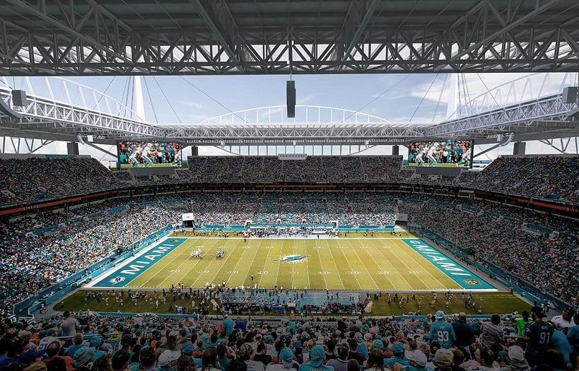 Ingressos de jogos do Miami Dolphins e NFL