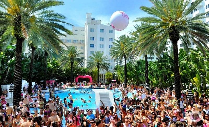 Pool party em Miami Beach