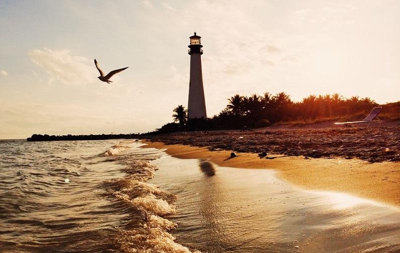 Praia Bill Baggs Cape Florida State Park em Miami