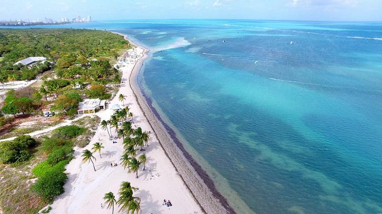 Praia Crandon Beach em Miami