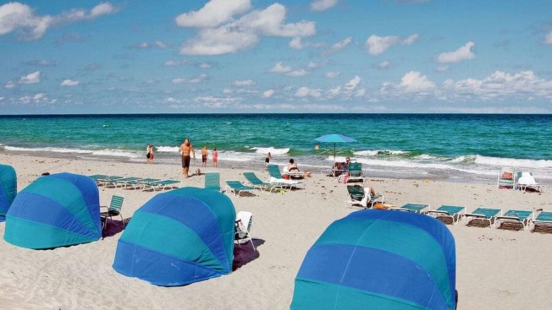 Praia Delray Beach na Flórida