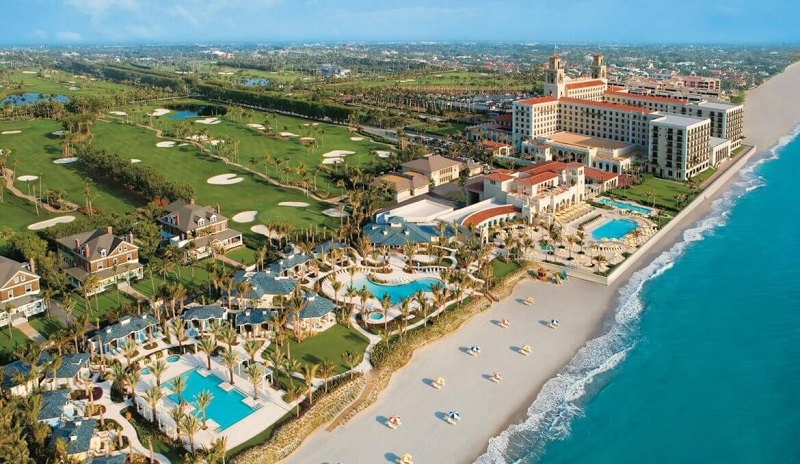 Praia de Palm Beach na Flórida